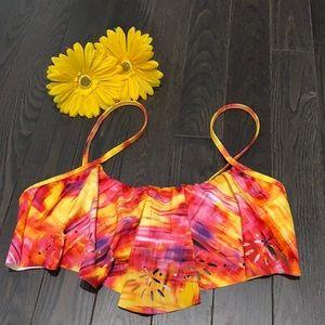 🍄2/$30🍄 REEF Bright Ruffle Bikini Top